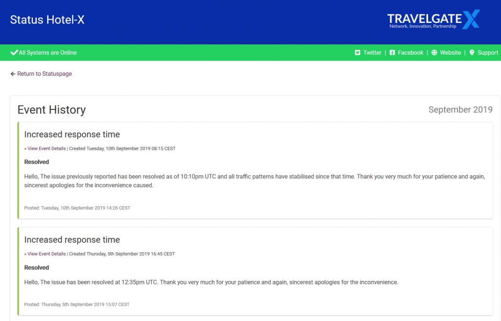 Status TravelgateX